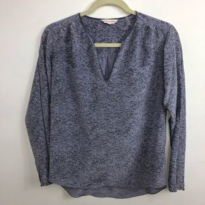 Rebecca Taylor 💯 % Silk Long Sleeve Blouse Size 2
